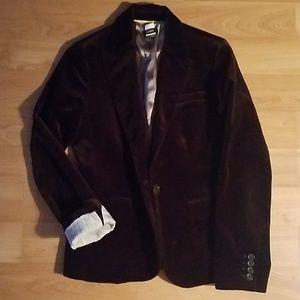 J.Crew brown velvet blazer